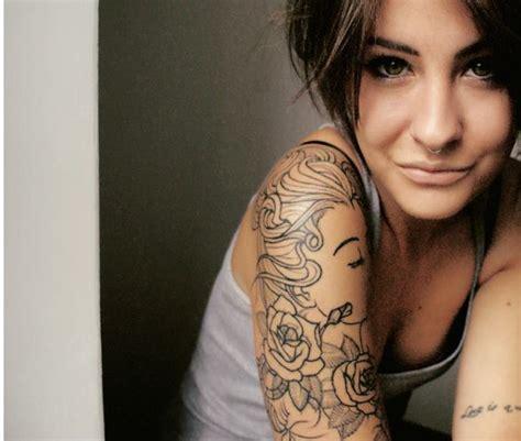 tattoo girl sex arm bow hair image 610854 on