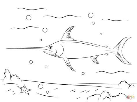sailfish coloring pages swordfish free colouring pages