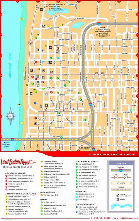 baton usa map baton downtown map