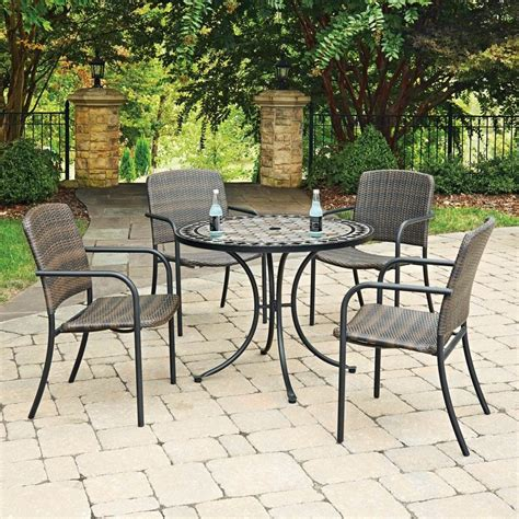 5 Pc Patio Dining Set 5 Pc Outdoor Dining Set In Black Express Home Decor