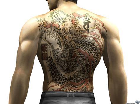 yakuza zero tattoo image kazuma kiryu ouryu tattoo jpg yakuza wiki