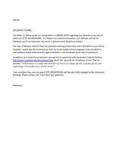 formal warning letter templates google docs word