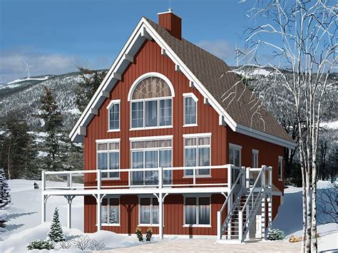 Chalet Home Plans 2 Story Chalet For Mountain Lot House Mountain Chalet House Plans