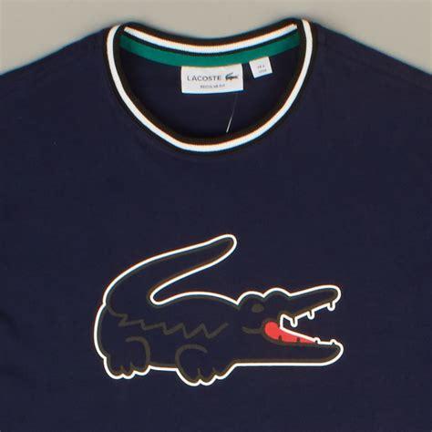Lacoste Pantofel Slop Size 39 43 lacoste t shirt logo navy th0010 00 lr8