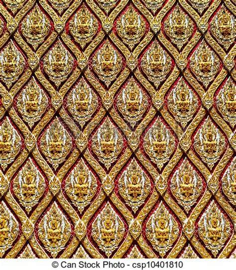 thai pattern history clipart of thai pattern design on wall csp10401810