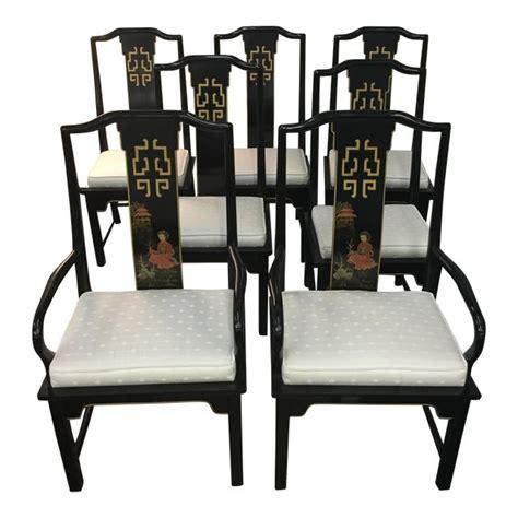 century asian style dining room chairs set   chairish