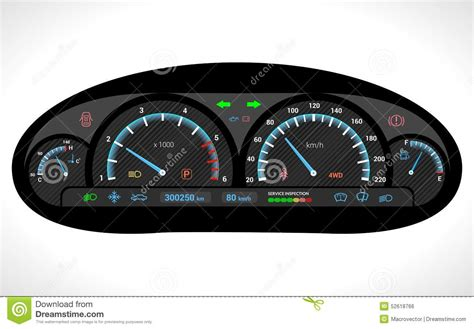 dashboard car car dashboard isolated stock vector image 52618766