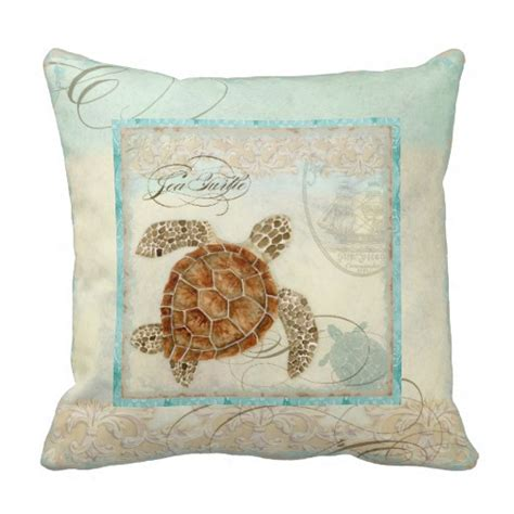 sea turtle coastal home decor pillow zazzle