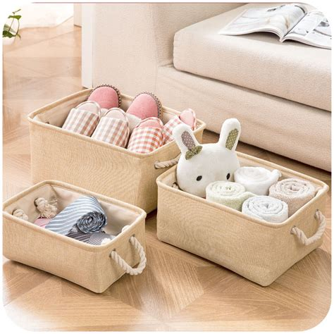 plastic bin laundry basketstorage her china mainland storage plain linen fabric with handle storage baskets toys