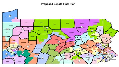 political map of pennsylvania new pa senate districts proposed map rock the