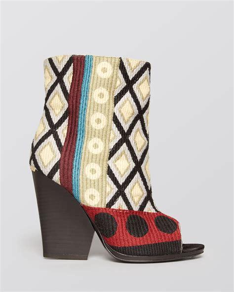 burberry high heel shoes lyst burberry high heel booties bateson in