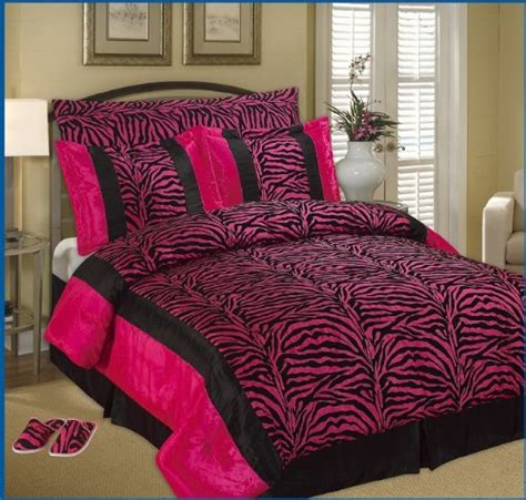 pink and black zebra comforter set best king faux silk and flocking printing black pink