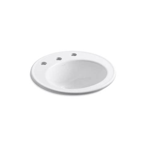 kohler bathroom sink drain kohler brookline drop in vitreous china bathroom sink in