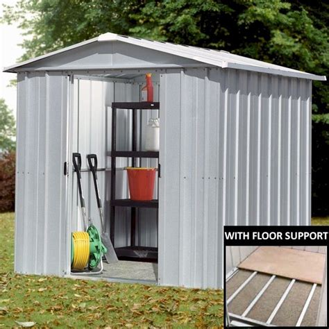 Metal Shed Floor by Yardmaster 65zgey Metal Shed 5x6 With Floor Support Kit