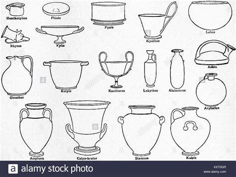 forme vasi greci eb1911 ceramics fig 15 shapes of vases stock photo