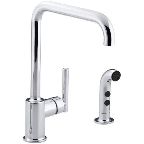 kohler kitchen faucets 4 hole kohler fairfax 4 hole 2 handle standard kitchen faucet