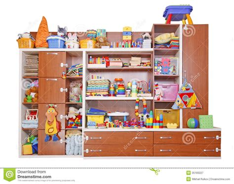 Toys On A Shelf by Shelf With Toys Stock Image Image Of Concept Food Decor