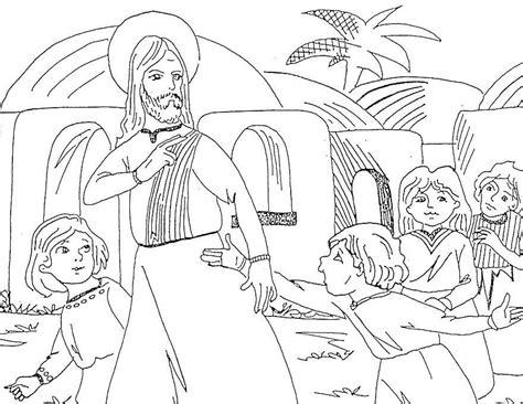 il giardino degli angeli catechismo il miracolo lebbroso disegni da colorare x bimbi