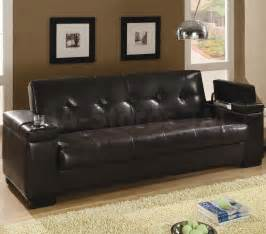 Leather Sofa Bed Sleeper Faux Leather Convertible Sofa Sleeper With Storage