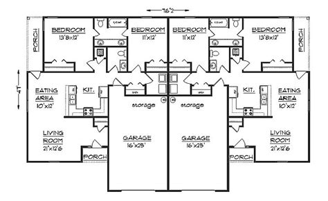 Duplex With Garage Plans by Duplex Plans With Garage Ppi