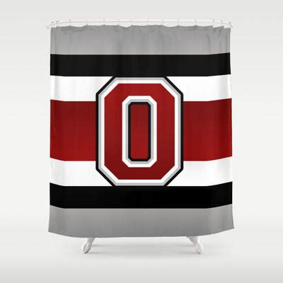 ohio state bathroom ohio state glove stripe shower curtain by from society6