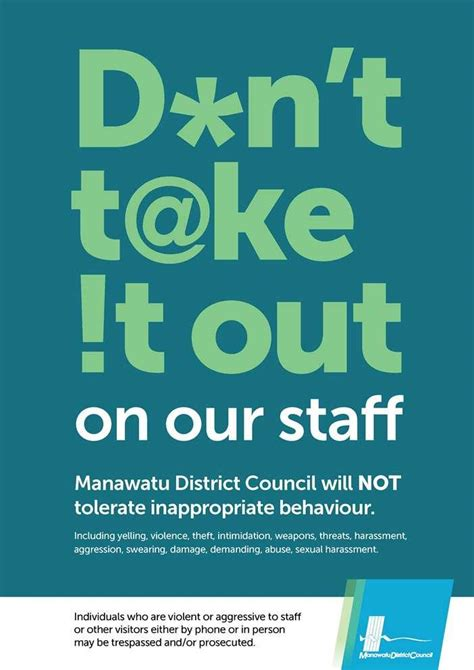 zero telorance manawatu district council zero tolerance