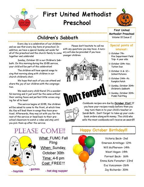 187 october newsletter fumc preschool