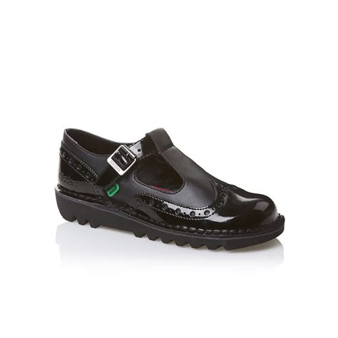 kicker shoes kickers kickers kick t brogue patent leather black z19 1