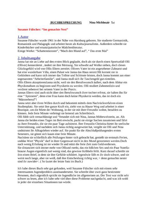 Charakteristik Schreiben Muster Inhaltsangabe Auf Englisch Schreiben