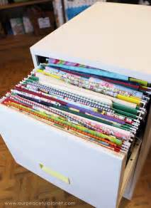 organize fabric with a file cabinet craft your happiness