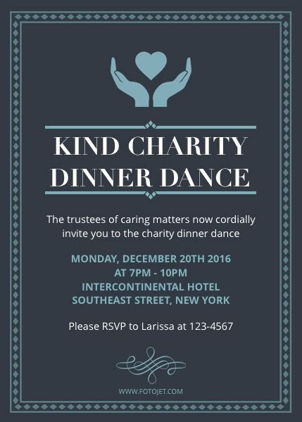Dance Party Invitation Template Ideal Vistalist Co Charity Invitation Template