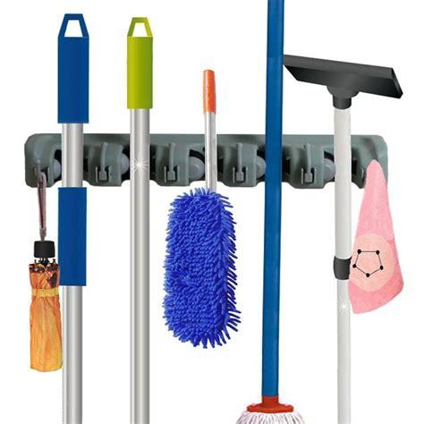 Magic Mop Hanging Holder Broom Rack Gantungan Sapu Pel Kemoceng best wall mounted mop and broom holders reviews findingtop