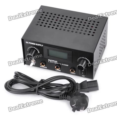 tattoo machine and power supply buy professional 1 6 quot lcd dc power supply for tattoo