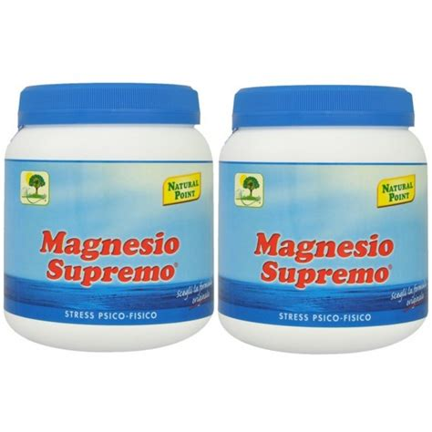 magnesio supremo point prezzo magnesio supremo point 2 x 300 gr anti stress