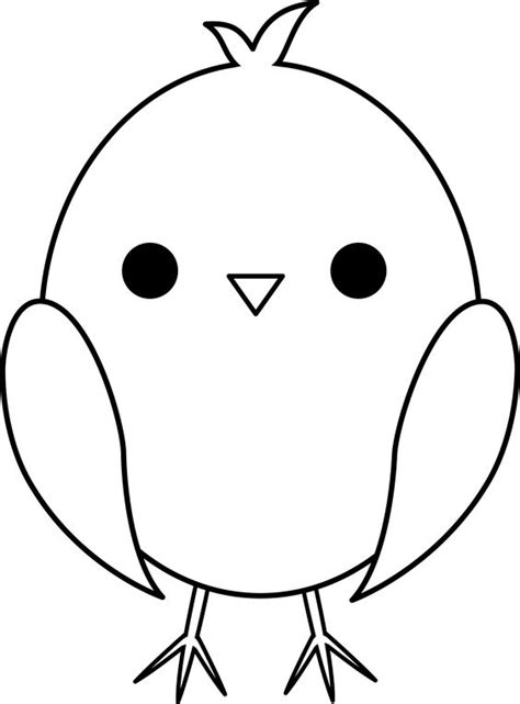 cute chick coloring pages cute colorable baby chick template pinterest