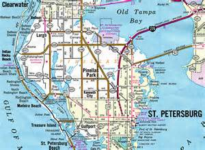 pinellas florida map florida aaroads florida 694 pinellas county 694