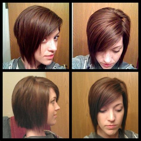bobhaircut with side bangs wispy sides slight angled wispy bob with shaggy layers side swept