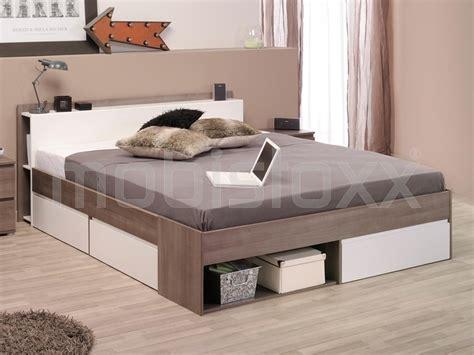 Futon 160x200 by Bed Noe 160x200 Cm Walnoot Met Lades Bij Mobistoxx