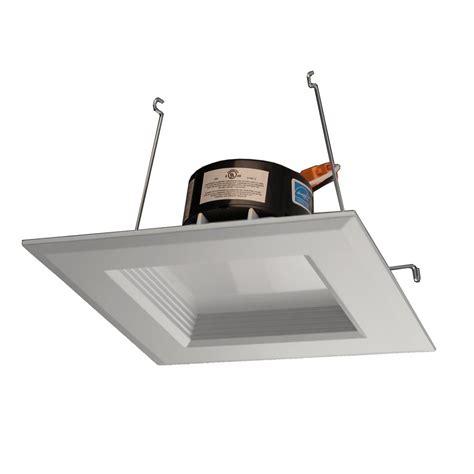 square recessed lighting retrofit nicor dlr series 5 in white 1100 lumens led square