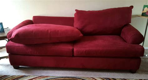 red suede couch comfy red suede sofa for sale in austin tx 5miles buy