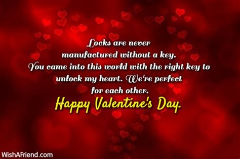 valentines message to him locks are never manufactured without a valentines day message