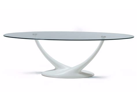 tavolo cristallo ovale tavolo ovale in cristallo coral cattelan italia