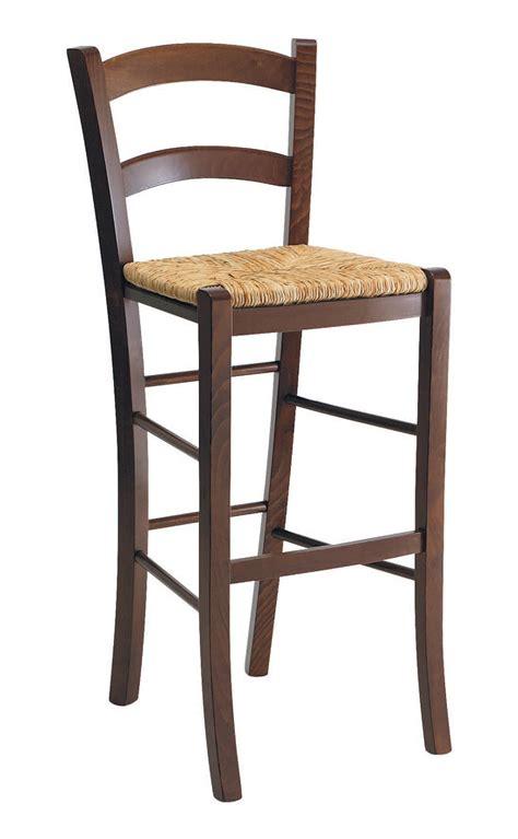 sgabello rustico sgabello rustico in legno con seduta in paglia per bar