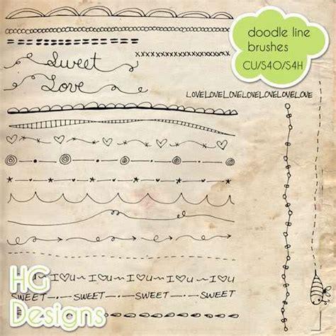 doodle line freebie cu doodle line brushes doodle woodle