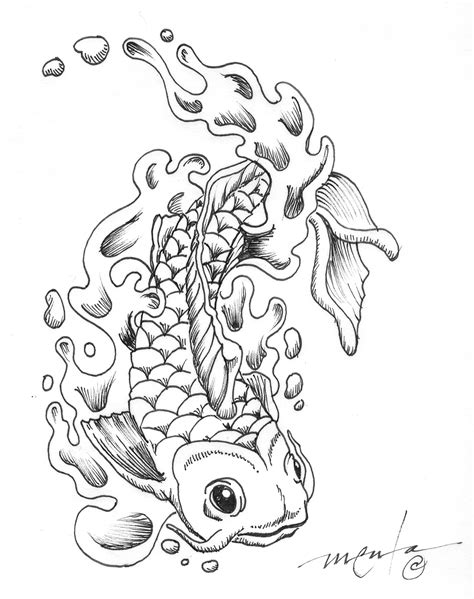 printable coloring pages koi fish free coloring pages of koi fish
