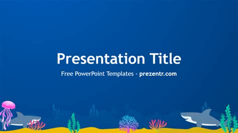 free sharks powerpoint template prezentr powerpoint