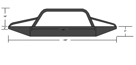 jeep bumper blueprints zj bumper plans images