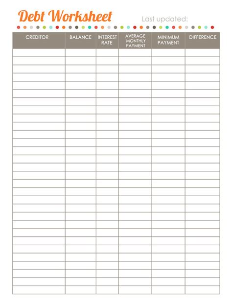 debt sheet template search results for blank monthly bill payments worksheet