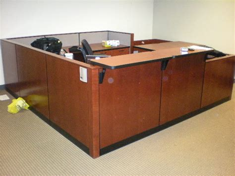 Steelcase Elective Elements Wood Panel Reception 9 X 9 Steelcase Reception Desk