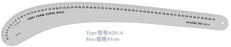 kearing 6505 armhole curve ruler pattern making rulers kearing metric metal fashion design ruler with 61cm for